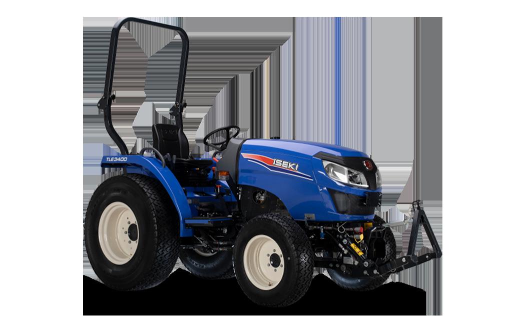 Der Kleintraktor TLE 3 in seinem typischen Blau